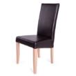 Beta szék sonoma tölgy - barna műbőr