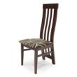 Lara szék gesztenye - mintás szövet