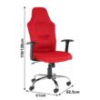Irodai szék, piros, VAN 5