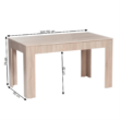 Étkezőasztal összecsukható, sonoma tölgyfa, 140/180x80 cm, ADMIRAL 1