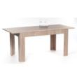 Étkezőasztal összecsukható, sonoma tölgyfa, 140/180x80 cm, ADMIRAL 2