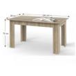 Étkezőasztal, sonoma tölgyfa, 140x80 cm, GENERAL 1