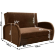 Széthúzható fotel, barna, MILI 2 2