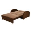 Széthúzható fotel, barna, MILI 2 3