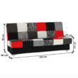Kanapé ágyfunkcióval és ágyneműtartóval,szövet piros, ALABAMA 2