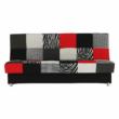 Kanapé ágyfunkcióval és ágyneműtartóval,szövet piros, ALABAMA 3