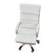 Irodai szék, fehér/barna textilbőr, KOLO CH137020 1