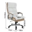 Irodai szék, fehér/barna textilbőr, KOLO CH137020 2