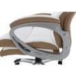 Irodai szék, fehér/barna textilbőr, KOLO CH137020 4