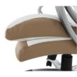 Irodai szék, fehér/barna textilbőr, KOLO CH137020 5