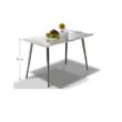 Étkezőasztal 120x70, MDF + króm, extra fényes HG, PEDRO 1
