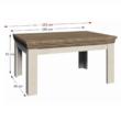 Étkezőasztal, széthúzható, északi lucfenyő / vad tölgyfa, ROYAL ST 1