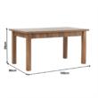 Széthúzható ebédlőasztal, tölgyfa lefkas, MONTANA STW 1