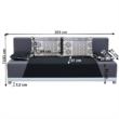 Kinyitható kanapé, szövet fekete/szürke/párnák szürke minta, ROKAR 4