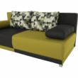 kinyitható kanapé,  szürke/zöld/minta párnák,  SPIKER 1