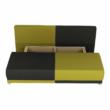 kinyitható kanapé,  szürke/zöld/minta párnák,  SPIKER 4