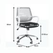 Irodai szék, fekete/szürke, LANCELOT 1