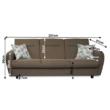 háromszemélyes kanapé, nyitható, barna Savana/minta, MILO 2