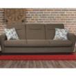 háromszemélyes kanapé, nyitható, barna Savana/minta, MILO 3
