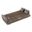 háromszemélyes kanapé, nyitható, barna Savana/minta, MILO 4