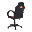 Irodai szék, textilbőr fekete/narancssárga, NELSON 1