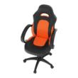 Irodai szék, textilbőr fekete/narancssárga, NELSON 2