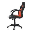 Irodai szék, textilbőr fekete/narancssárga, NELSON 3