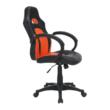 Irodai szék, textilbőr fekete/narancssárga, NELSON 4