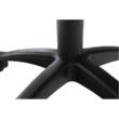 Irodai szék, textilbőr fekete/narancssárga, NELSON 5