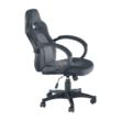 Irodai szék, műbőr fekete/szürke, NELSON 2