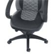 Irodai szék, műbőr fekete/szürke, NELSON 3