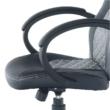 Irodai szék, műbőr fekete/szürke, NELSON 4
