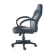 Irodai szék, műbőr fekete/szürke, NELSON 5