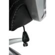 Irodai szék, textilbőr fekete/fehér, LOTAR 3