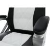 Irodai szék, textilbőr fekete/fehér, LOTAR 4