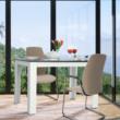 Étkezőasztal, fehér/fekete, 120x80, KRAZ 1