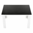 Étkezőasztal, fehér/fekete, 120x80, KRAZ 3