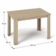 Étkezőasztal, tölgy sonoma, 120x80, KRAZ 1