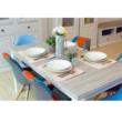 Nyitható étkezőasztal, fehér, LIONA LM 88 2