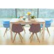 Nyitható étkezőasztal, fehér, LIONA LM 88 3