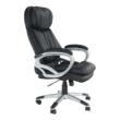 Irodai szék, fekete műbőr, ROTAR 3