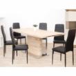 Étkezőasztal, MDF, tölgy sonoma, AMAR 3