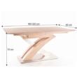 Étkezőasztal, sonoma tölgyfa, BONET 1