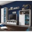 Nappali szekrénysor, beton/fehér fény, SLONE 1