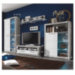 Nappali szekrénysor, beton/fehér fény, SLONE 2