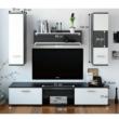 Nappali szekrénysor, fekete/fehér, WAW NEW 1