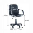 Irodai fotel, fekete, AYLA 1