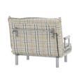 Kinyitható fotel párnával, káró, SARAN 1