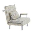 Kinyitható fotel párnával, káró, SARAN 2
