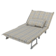 Kinyitható fotel párnával, káró, SARAN 4